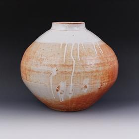 ダック志野釉壺