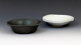 ライツグリーン釉鉢/白磁二方鉢