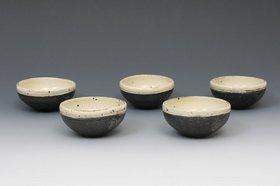 唐津粉引二方小鉢